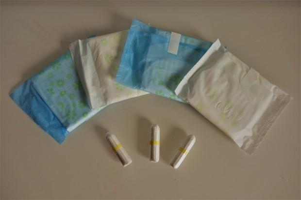 Serviettes hygiéniques bio et tampons
